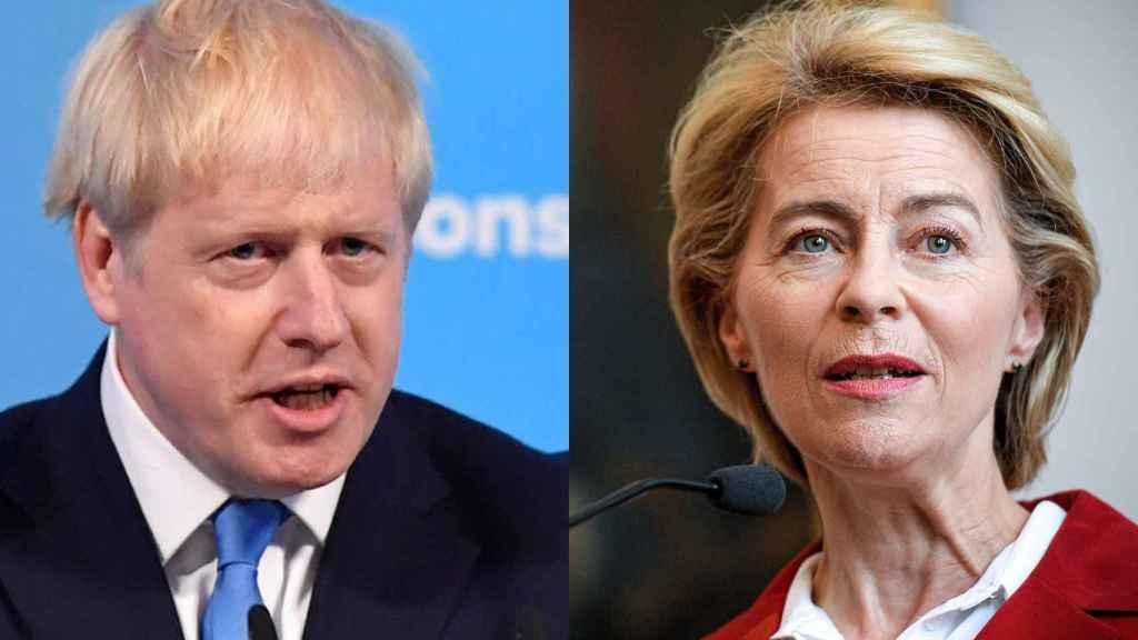 El nuevo líder 'tory', Boris Johnson, y la presidenta de la Comisión Europea, Ursula von der Leyen.