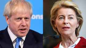 El nuevo líder tory, Boris Johnson, y la presidenta de la Comisión Europea, Ursula von der Leyen.