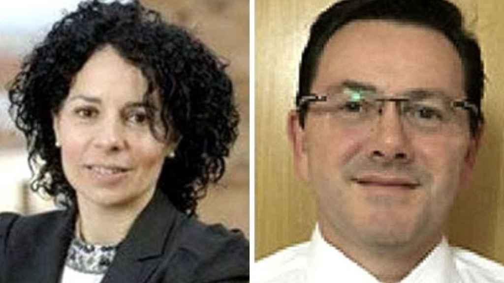 La exsecretaria general de la Universidad de Extremadura, Inmaculada Domínguez, y su marido, Juan José Alonso.