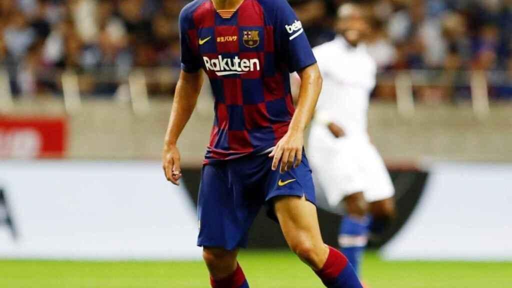 Aleñá en la pretemporada con el Barça. Foto: Twitter (@Carlesale10)