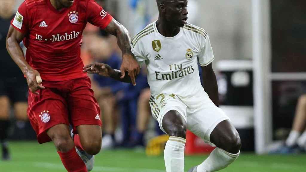 Ferland Mendy, en un partido del Real Madrid ante el Bayern Múnich