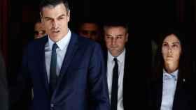 Pedro Sánchez, este jueves al salir del Congreso de los Diputados tras el naufragio de su investidura.