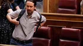 Pablo Iglesias, este jueves en el Congreso.