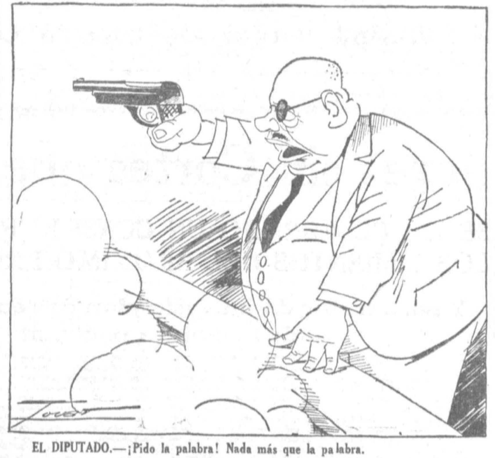 Viñeta de 'La Voz' (5 de julio de 1934).