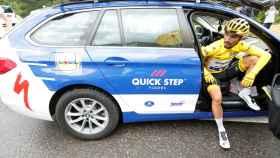Alaphilippe tras perder el maillot amarillo en el Tour de Francia