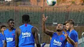 El Barcelona en un entrenamiento