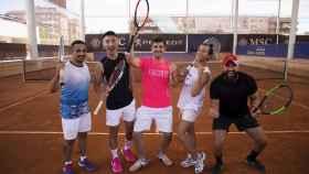Algunos de los participantes en la XVII edición del Madrid Tennis Open, en la Ciudad de la Raqueta.