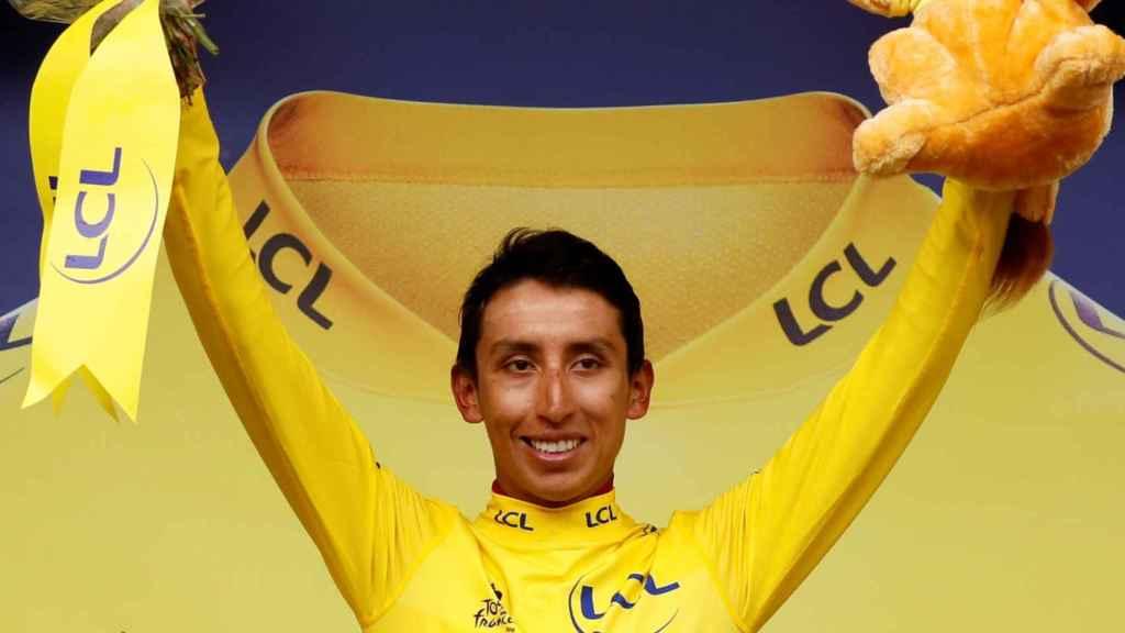 Egan Bernal, en el podio del Tour de Francia