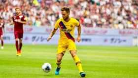Rakitic, en un partido del FC Barcelona. Foto: Twitter (@FCBarcelona_es)