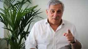 Antonio Tajani, expresidente del Parlamento Europeo, en su despacho de la Eurocámara en Bruselas.