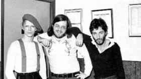 Springsteen y Bowie con el DJ Ed Sciaky