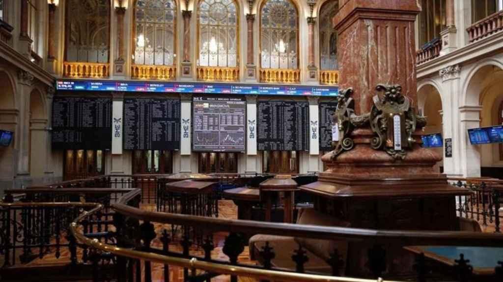 Parqué del Palacio de la Bolsa de Madrid.