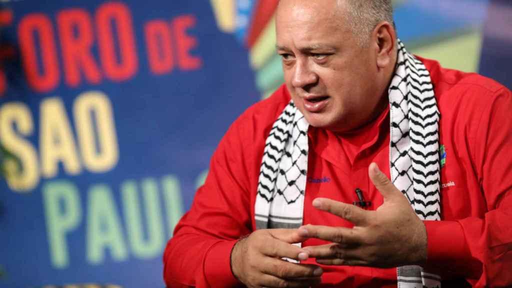 Diosdado Cabello, presidente de la Asamblea Nacional Constituyente, en el Foro de Sao Paulo en Caracas.