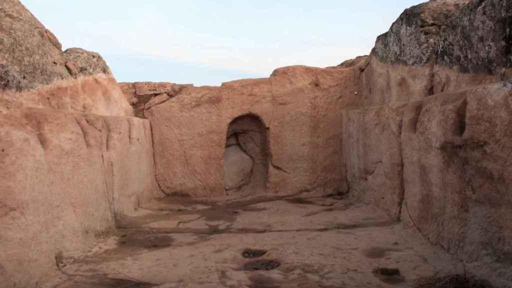 Yacimiento arqueológico de 'La Cava'.