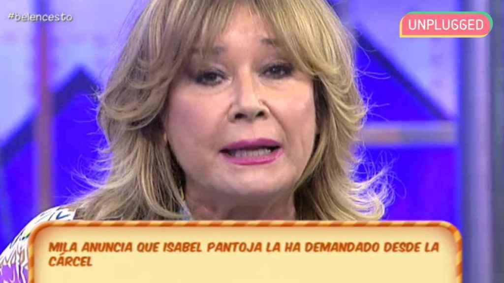 Mila anuncia en 'Sálvame' que Isabel Pantoja ha vuelto a demandarla.