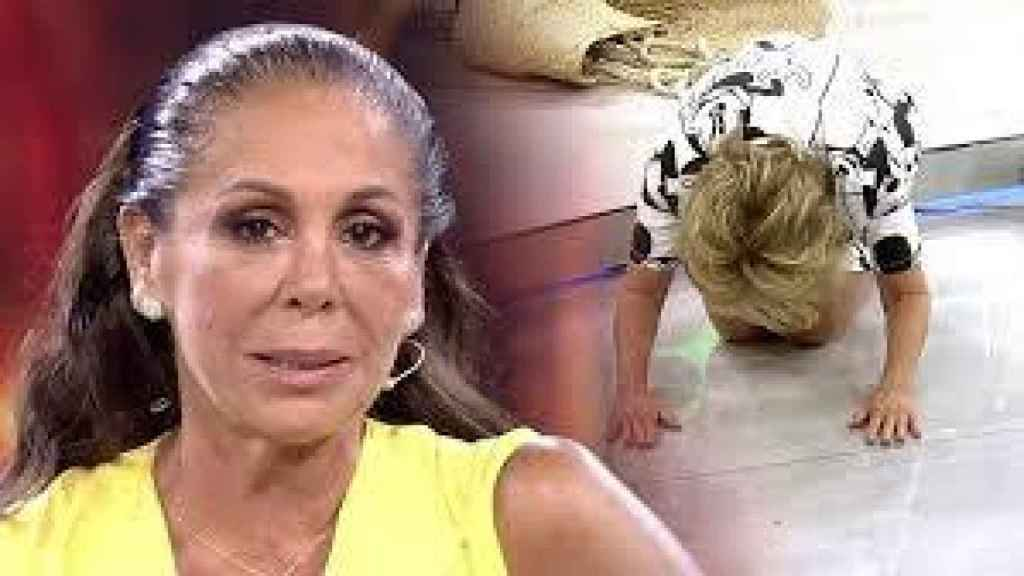 Mila se arrodilló ante el concurso de Isabel Pantoja en 'Supervivientes'.