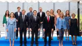 Pablo Casado junto al resto de integrantes del nuevo Comité de Dirección.