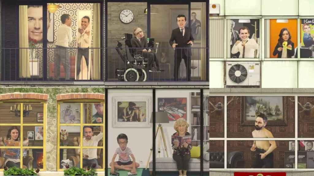 Políticos de ayer y de hoy vistos a través de la ventana al estilo 'Rue del Percebe'