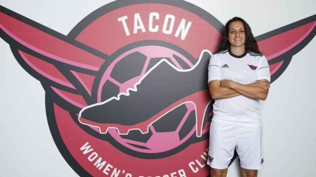 Aurelie Kaci, nueva jugadora del CD Tacón. Foto: Twitter (@CDTacón)