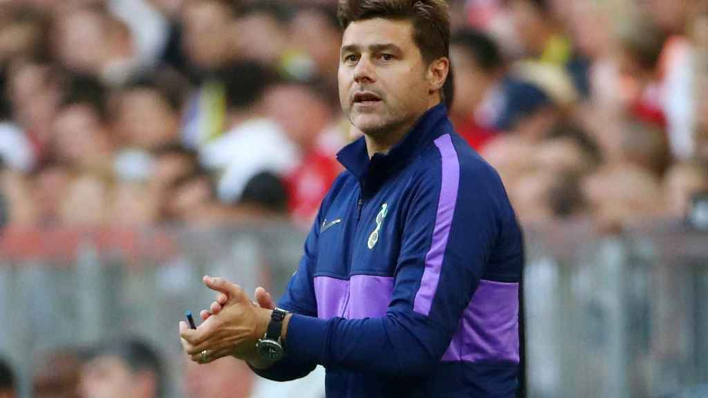 Mauricio Pochettino, en un partido del Tottenham