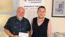 José María Fernández y Olga Ávalos, concejales de IU en el ayuntamiento de Toledo