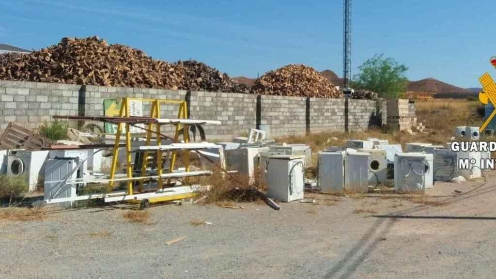 Electrodomésticos almacenados por la empresa.