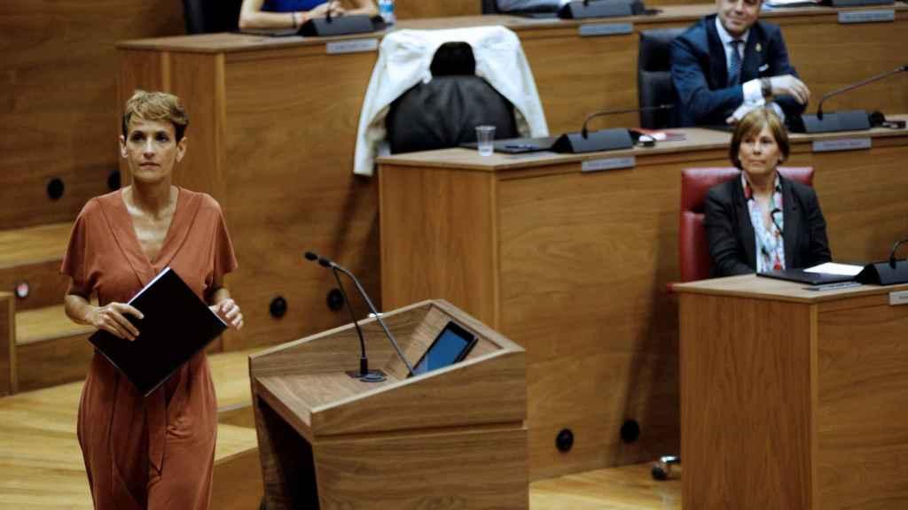 Sesión de investidura en el Parlamento de Navarra.