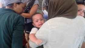 Bebé rescatado por la ONG Open Arms.