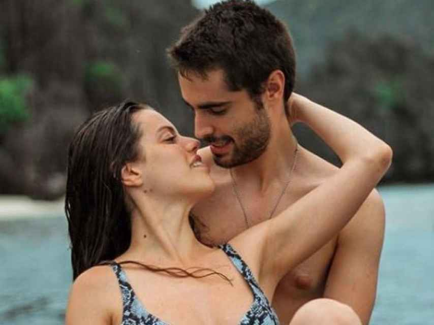 David junto a su novia Shaila en Filipinas.