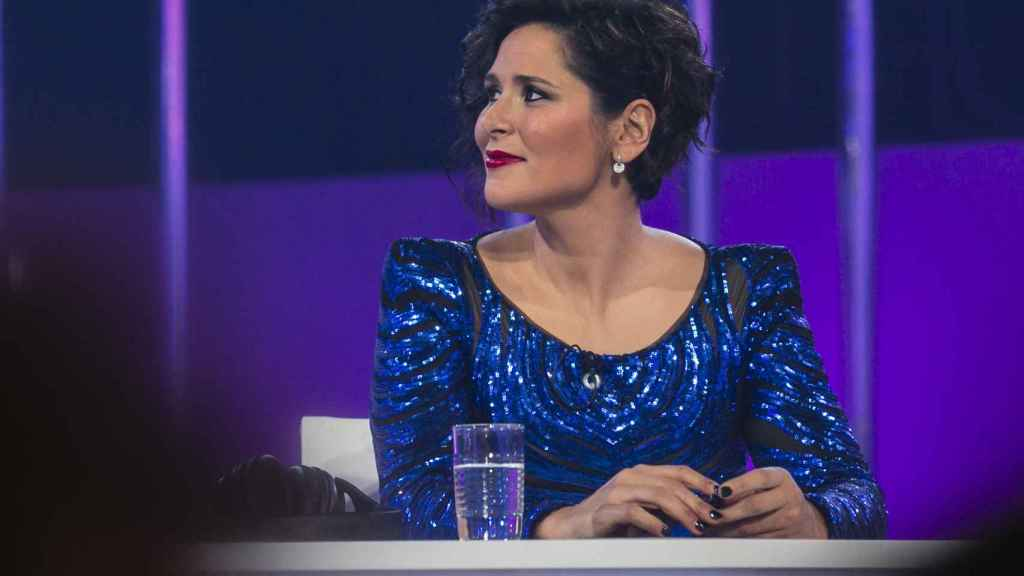 La cantante Rosa López durante su visita a 'Operación Triunfo 2018'.