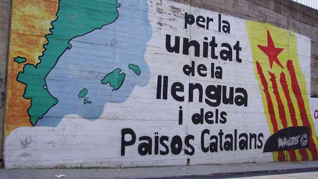 Grafiti de ideología pancatalanista.