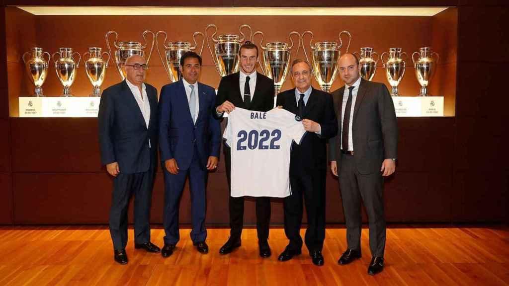 Jonathan Barnett en la última presentación de Gareth Bale con el Real Madrid