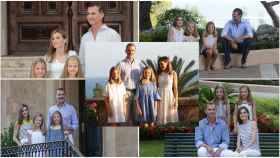 Montaje con los posados de la Familia Real en Mallorca.