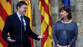 Los presidentes valenciano y balear, Puig y Armengol: ambos han dejado la Educación en manos de los nacionalistas.