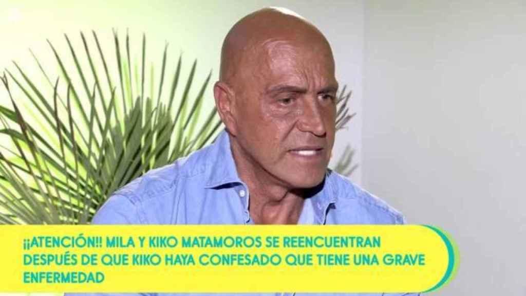 Kiko Matamoros en su entrevista más sincera en 'Sálvame'.