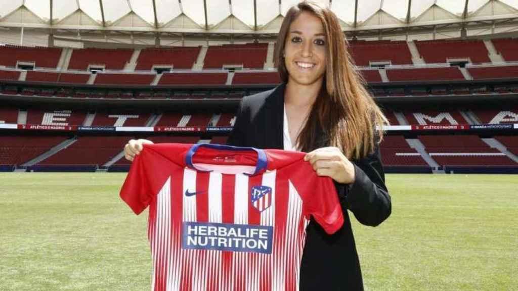 Olga García, en su presentación con el Atlético de Madrid en 2018. Foto. Atlético Femenino