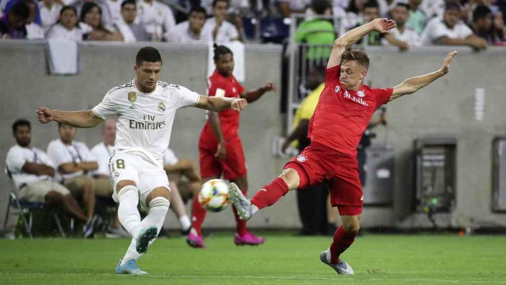 Luka Jovic con el Real Madrid, durante el encuentro contra el Bayern Múnich en Estados Unidos.