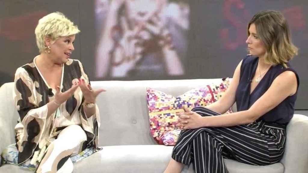 Terelu Campos y Sandra Barneda en 'Viva la vida'.