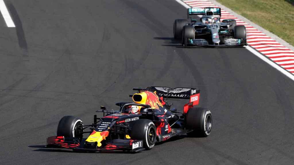 Max Verstappen y Lewis Hamilton, en el Gran Premio de Hungría del Mundial de Fórmula 1