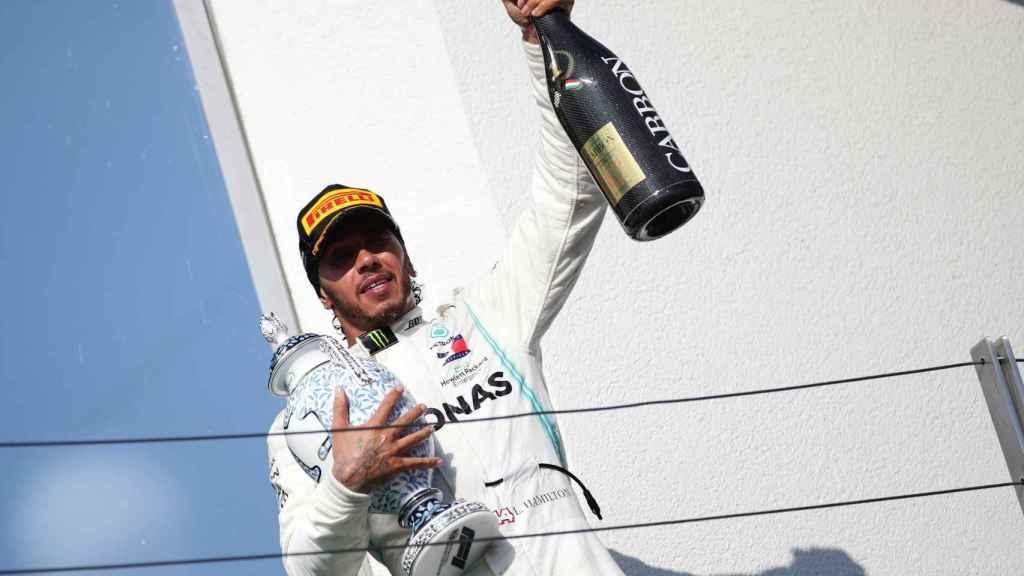 Lewis Hamilton, tras ganar el Gran Premio de Hungría del Mundial de Fórmula 1