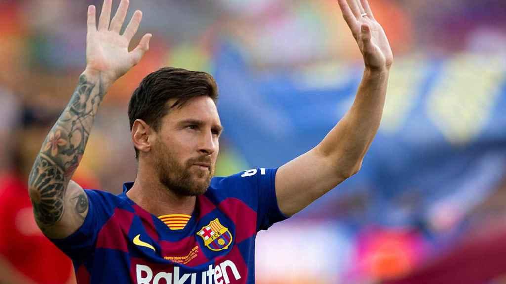 Messi, en la presentación del Barcelona 2019/2020 antes el Trofeo Gamper