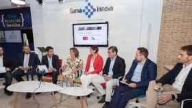 Debate de presentación en SUMA con el Teniente de Alcalde de Murcia, Director y vpta de Suma, Vpta Murcia y Rector UM.