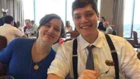 Megan y  Conor Betts, en una foto tomada en mayo de 2017.