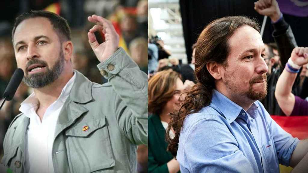 Santiago Abascal, presidente de Vox, y Pablo Iglesias, vicepresidente del Gobierno.