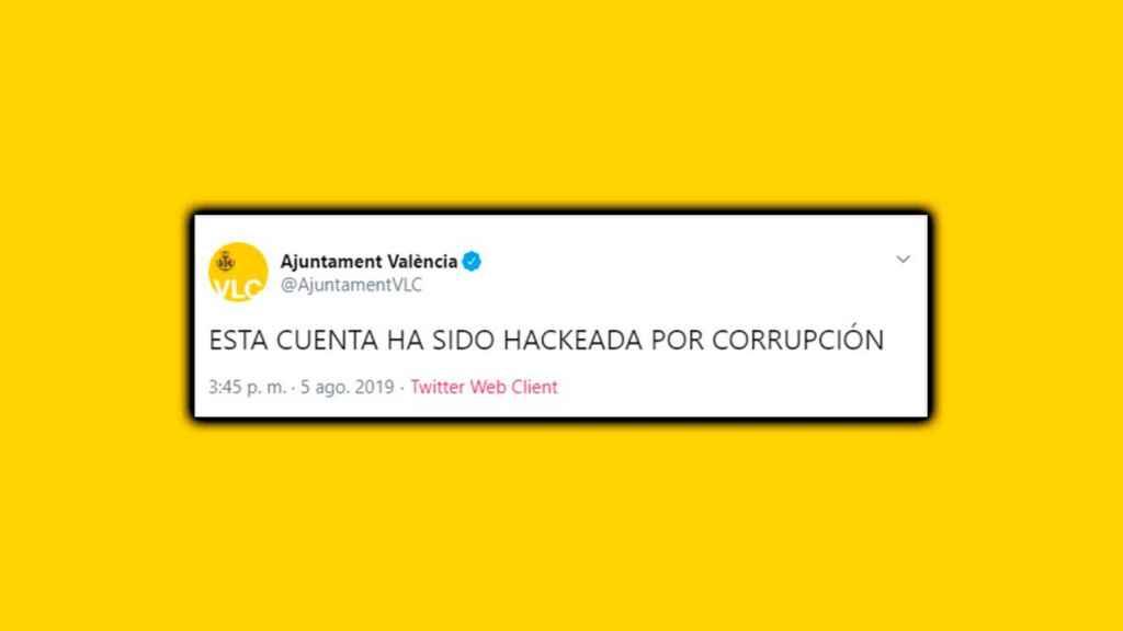 Tweet de la cuenta del Ayuntamiento de Valencia.