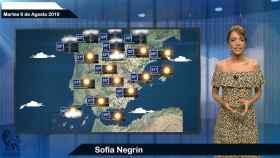 Fotograma de la predicción del tiempo de este martes.