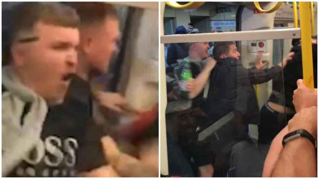 Batalla campal entre hooligans del Liverpool y el Manchester City en el metro de Londres