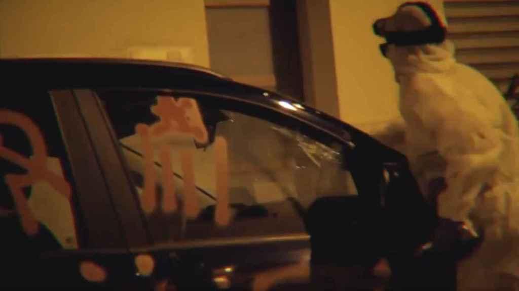 Fotograma del vídeo publicado por el colectivo independentista Arran.