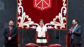 María Chivite durante el acto de su investidura.
