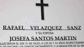 Esquela de Josefa, asesinada por su marido Rafael el pasado mes de julio